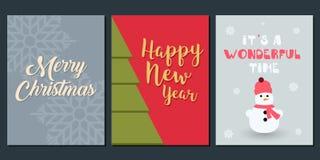 Natale invito e modello di saluto Fotografie Stock