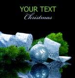 Natale isolato sul nero Fotografia Stock