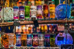 Natale Jelly Glass Candle Kiosk immagine stock libera da diritti