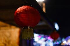 Natale lanterna cinese, Xi `, Cina Fotografia Stock Libera da Diritti