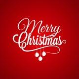 Natale Logo Lettering On Red Background Fotografia Stock