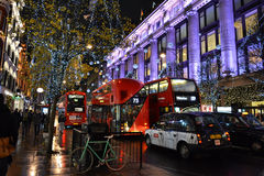Natale a Londra Immagini Stock