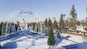 Natale magico nel 2016 a Mosca Fotografie Stock Libere da Diritti