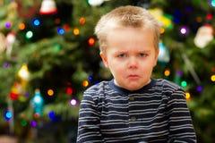Natale molto triste per questo tipo Fotografie Stock Libere da Diritti