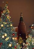 Natale a Mosca Immagini Stock