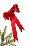 Natale in nastro rosso Fotografia Stock Libera da Diritti