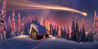 Natale nei Carpathians Fotografia Stock Libera da Diritti