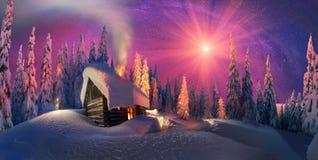 Natale nei Carpathians Immagine Stock Libera da Diritti