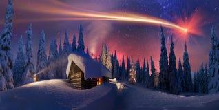 Natale nei Carpathians Immagini Stock