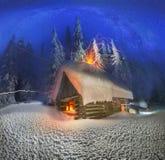 Natale nei Carpathians Immagini Stock Libere da Diritti
