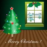 Natale nella mia stanza Fotografia Stock Libera da Diritti