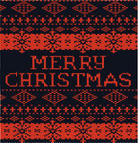 Natale nero e rosso del modello di inverno Fotografia Stock Libera da Diritti