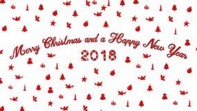 Natale 2018 nuovi anni Immagine Stock Libera da Diritti