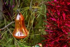 Natale, nuovo anno, decorazione di giorno di ringraziamento ed albero di Natale fotografia stock libera da diritti