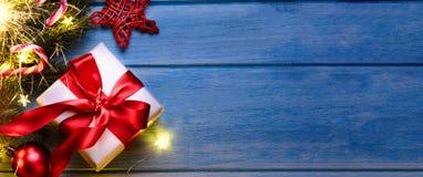 Natale o regalo dell'nuovo anno fotografie stock