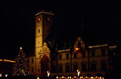 Natale in Olomouc immagini stock libere da diritti