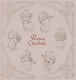 Natale ornamentale del bobinatoio a cono di angelo di canto Fotografia Stock Libera da Diritti