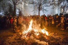 Natale ortodosso della Serbia Fotografia Stock Libera da Diritti