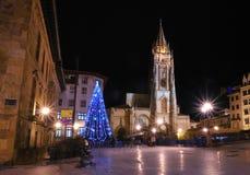 Natale a Oviedo, Asturia. Fotografia Stock Libera da Diritti