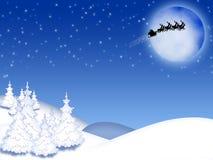 Natale, paesaggio di inverno Immagine Stock Libera da Diritti