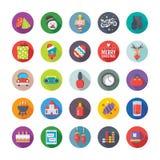 Natale, partito ed icone 8 di vettore di celebrazioni illustrazione vettoriale