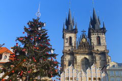 Natale a Praga Fotografia Stock Libera da Diritti