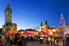 Natale a Praga (Unesco), repubblica Ceca Fotografie Stock