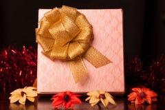 Natale quadrato del contenitore di regalo Immagini Stock Libere da Diritti