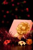 Natale quadrato del contenitore di regalo Fotografia Stock
