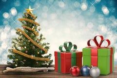 Natale regalo ed ornamento di natale Immagine Stock Libera da Diritti
