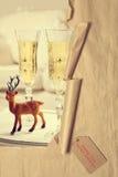 Natale rivelante Champagne Immagine Stock