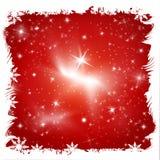 Natale rosso con le stelle Fotografia Stock Libera da Diritti
