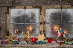 Natale, rosso, decorazione, candele, natale, lume di candela, allegro, a Fotografia Stock Libera da Diritti