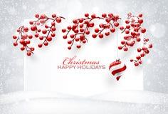 Natale rosso  decorazioni Immagine Stock