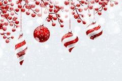 Natale rosso  decorazioni Immagine Stock Libera da Diritti