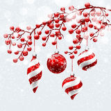 Natale rosso  decorazioni Fotografia Stock Libera da Diritti