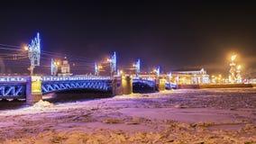 Natale in San Pietroburgo decorazione festiva del Br del palazzo Immagine Stock