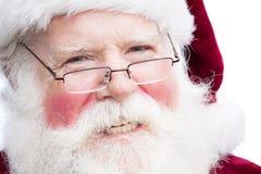 Natale Santa Claus con spec. Immagine Stock Libera da Diritti