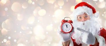 Natale Santa Claus del tempo Fotografia Stock Libera da Diritti