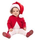 Natale Santa del bambino Fotografie Stock Libere da Diritti
