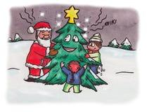 Natale Santa (2007) di Reiki Immagini Stock