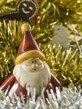 Natale Santa e colomba Fotografia Stock Libera da Diritti