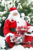 Natale Santa nella neve Immagine Stock Libera da Diritti