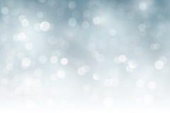 Natale scintillante d'argento, luci confuse di festa, bokeh Immagine Stock