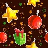 Natale senza cuciture di struttura Fotografia Stock