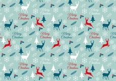 Natale senza cuciture modello, vettore Immagini Stock