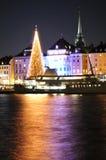 Natale a Stoccolma Fotografia Stock Libera da Diritti