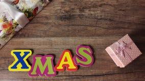 Natale su fondo di legno immagine stock libera da diritti