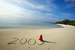Natale su una spiaggia Immagini Stock Libere da Diritti