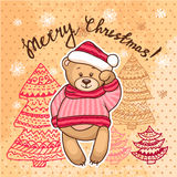 Natale Teddy Bear Fotografia Stock